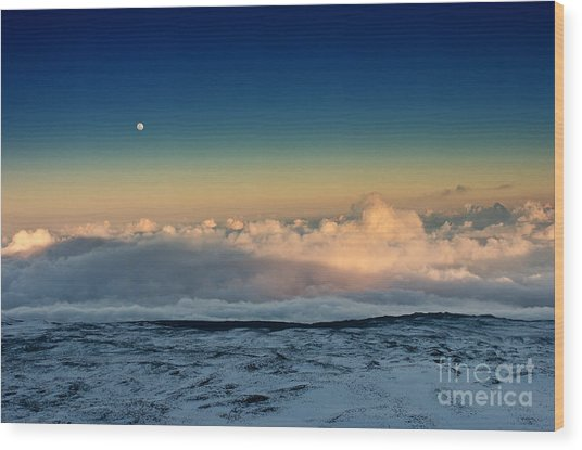 Sunset Very High Wood Print by Karl Voss