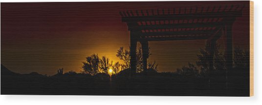 Sunset Vista Wood Print