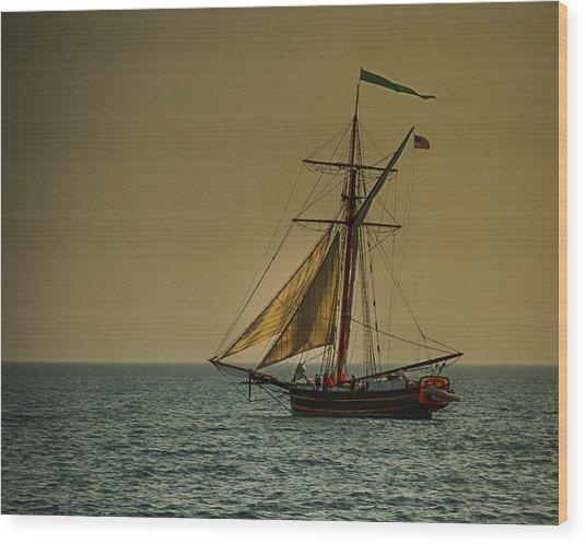 Sunset Voyage Wood Print