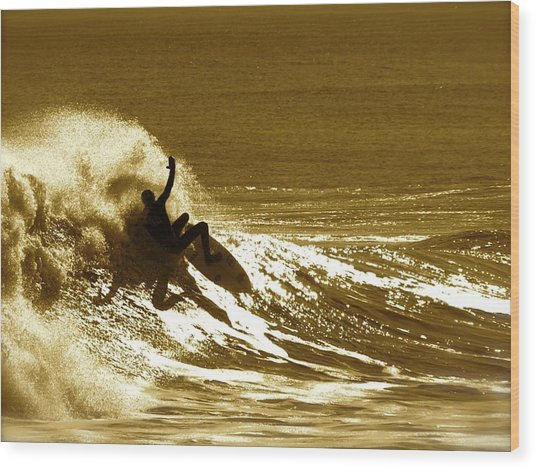 Sunset Wipeout Wood Print
