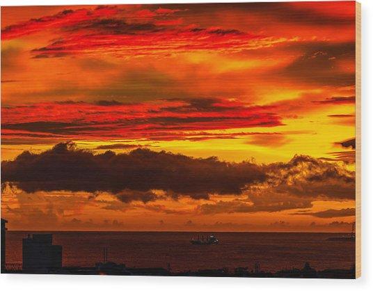 Sunset Wow2 Wood Print