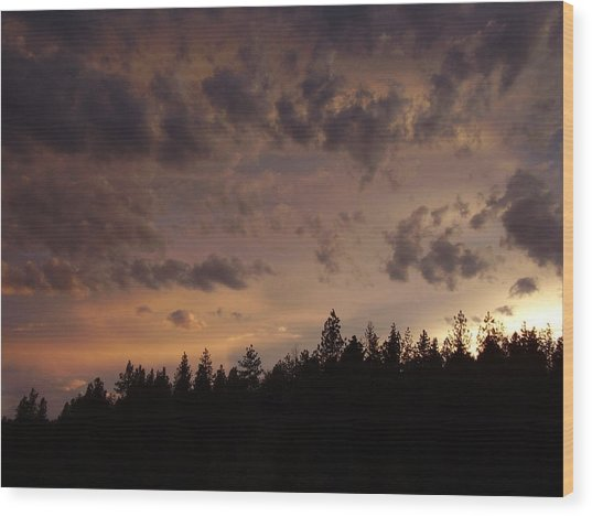 Sunset Wood Print by Yvette Pichette
