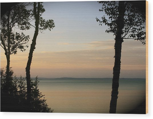 Sunsets On The Bay Of Fundy Wood Print