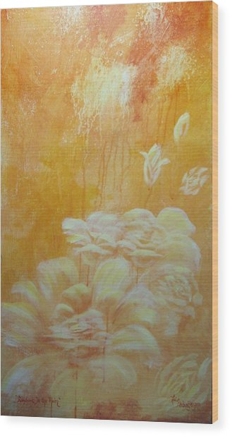 Sunshine In The Rain Wood Print by Lori Salisbury