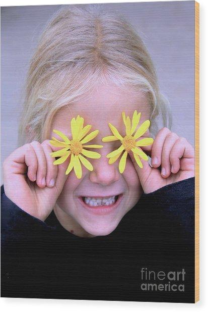 Sunshine Smile Wood Print