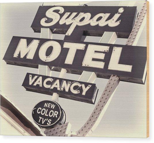 Supai Motel Wood Print