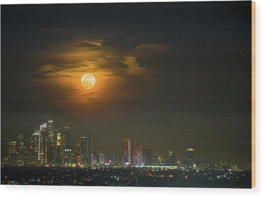 Super Blue Bloody Moon Wood Print by Eunice Kim