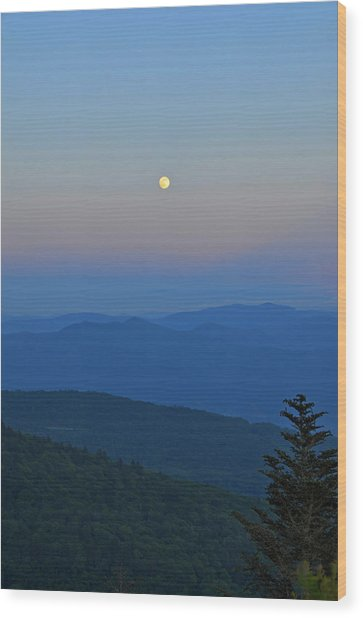 Super Moon Wood Print by Mary Anne Baker