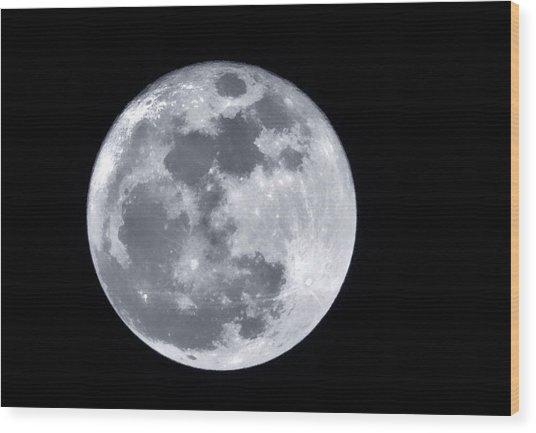 Super Moon Over Arizona  Wood Print