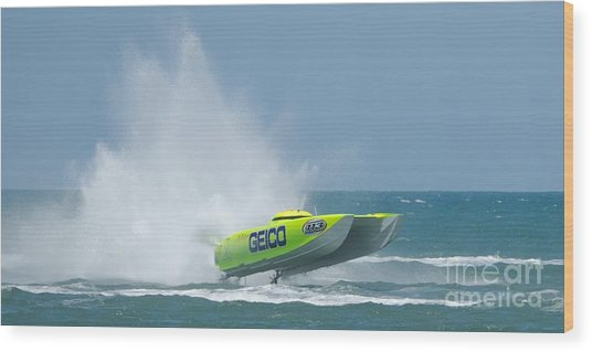 Superboats - Miss Geico Wood Print