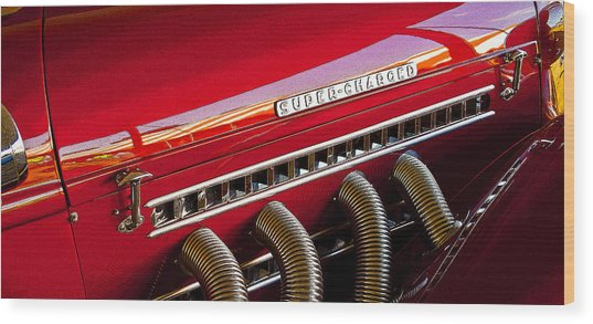 Supercharged Candy Apple Wood Print