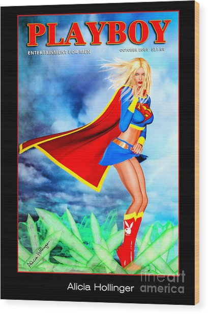 Supergirl 2085 Wood Print by Alicia Hollinger