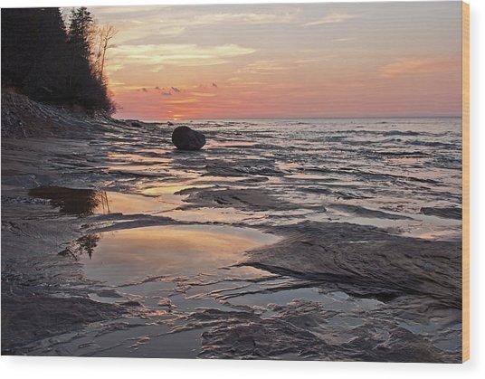 Superior Sunset  Wood Print