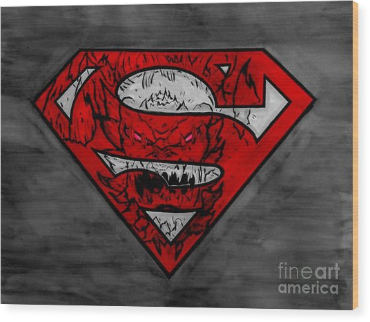 Superman And Doomsday R G Wood Print