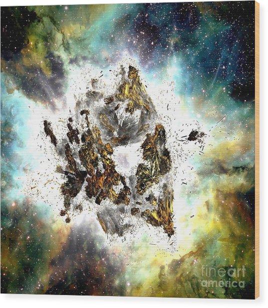 Supernova Wood Print by Bernard MICHEL