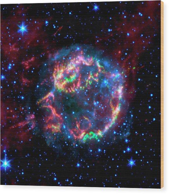 Supernova Remnant Cassiopeia A Wood Print