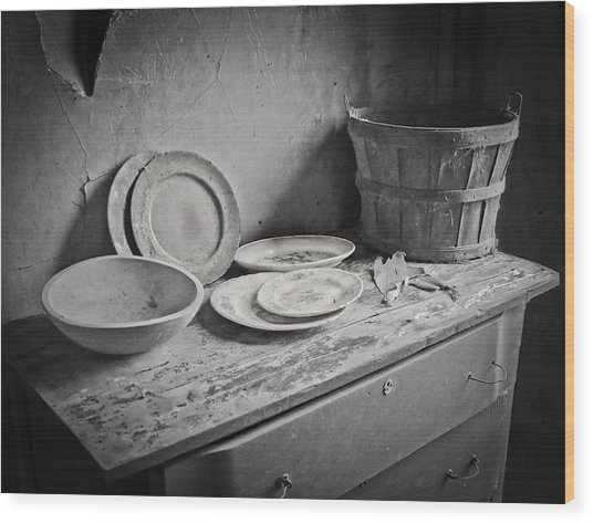 Suppers Gone By 2 Wood Print by EG Kight