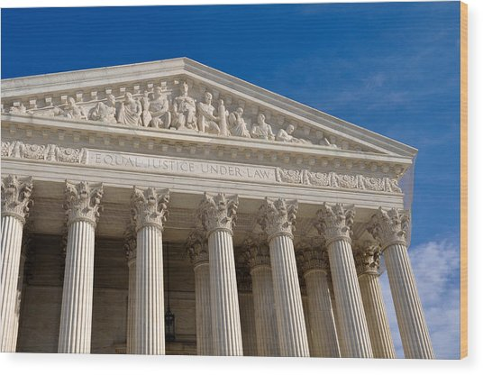 Supreme Court Of The United States Wood Print