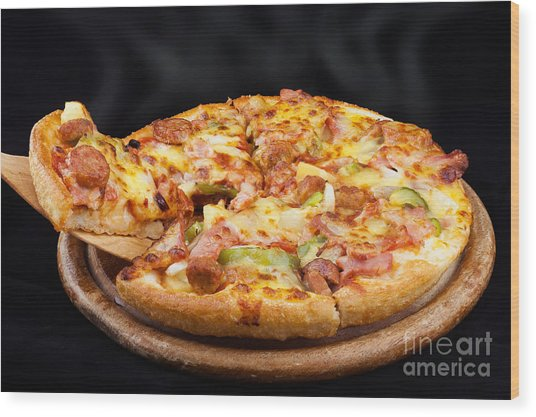 Supreme Hot Pizza  Wood Print