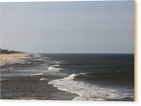 Surf And Sand Wood Print by Carolyn Ricks