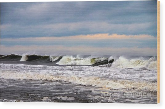 Surf City Surf Wood Print
