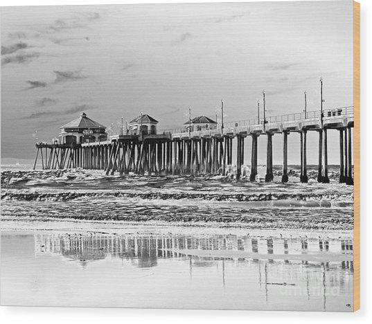 Surf City U S A  Wood Print