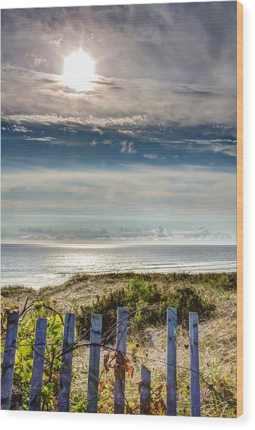 Surfers At Coast Guard Beach Wood Print