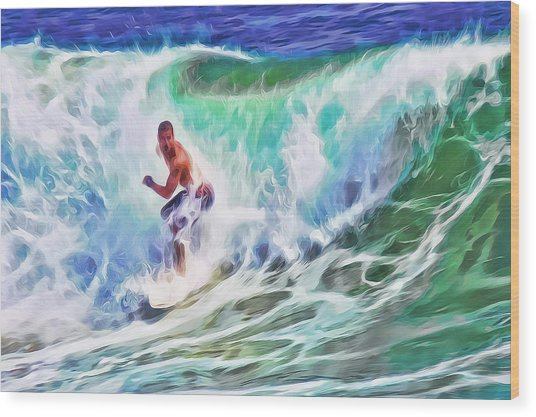 Surfin Usa Wood Print