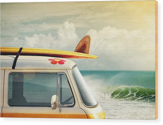 Surfing Way Of Life Wood Print
