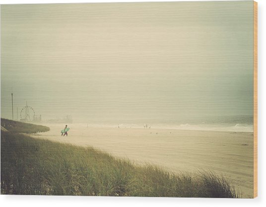 Surf's Up Seaside Park New Jersey Wood Print