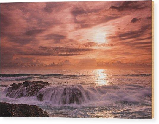 Surging Tide Wood Print