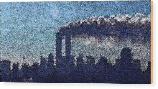 Surreal Silhouette  Wood Print