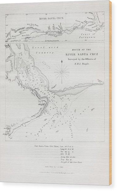 Survey Of The Santa Cruz River Wood Print