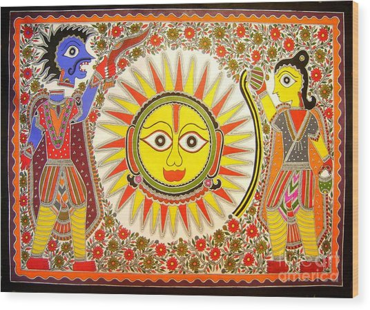 Surya Grahan Wood Print