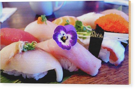 Sushi Lunch Wood Print