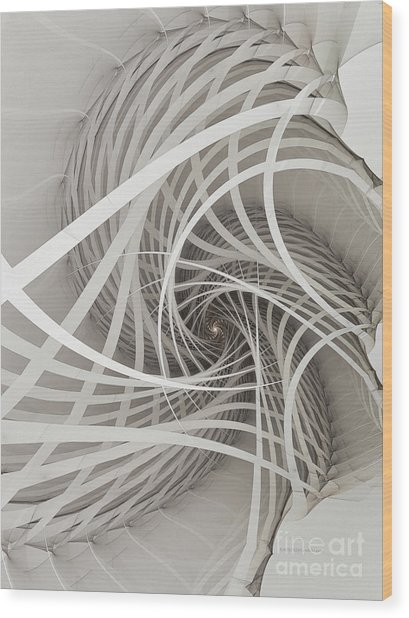 Suspension Bridge-fractal Art Wood Print