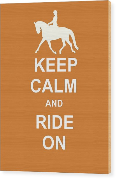 Suspension Keep Calm Wood Print by JAMART Photography