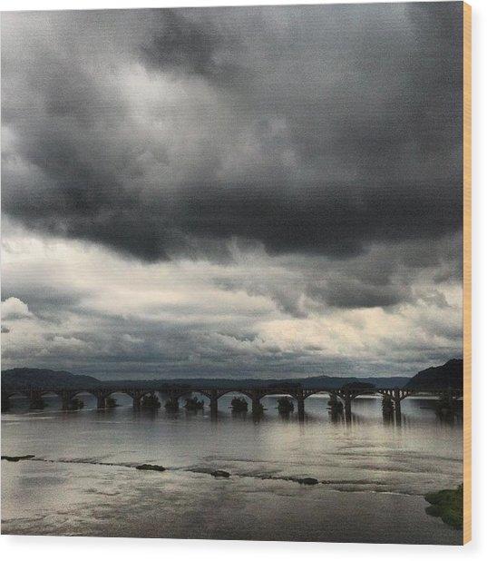 Susquehanna River Bridge Wood Print