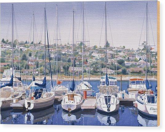Sw Yacht Club In San Diego Wood Print