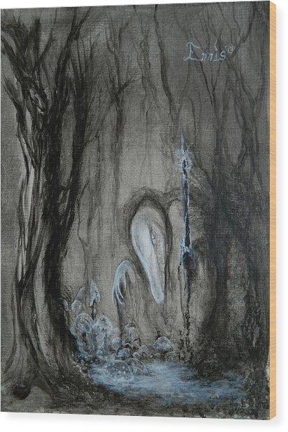Swamp Shaman Wood Print