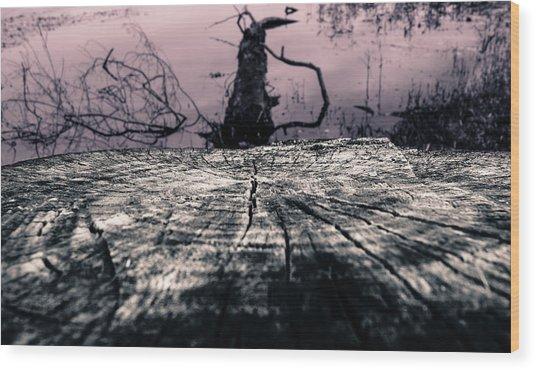 Swamp Thing Wood Print