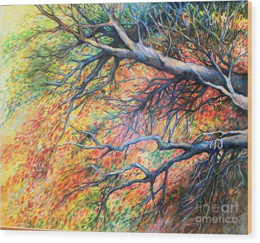 Sway Dancing Trees Wood Print