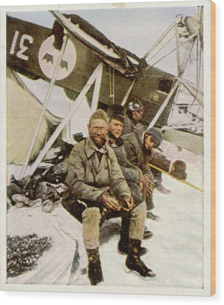 Swedish Aviator Lundborg, Who Wood Print by Mary Evans Picture Library