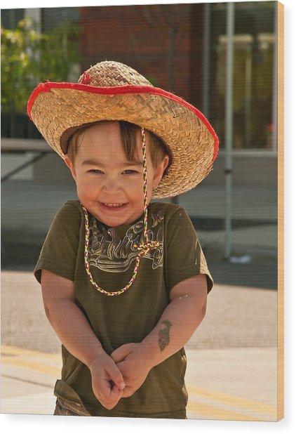 Sweet Boy Cowboy Hat Wood Print