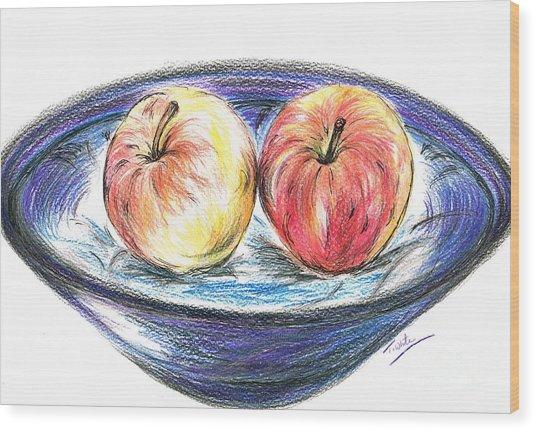 Sweet Crunchy Apples Wood Print