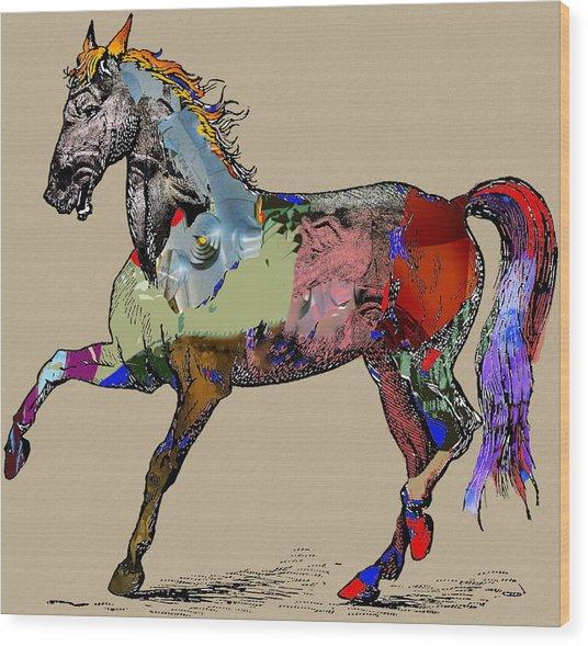 Sweet Horse Wood Print by Francis Erevan