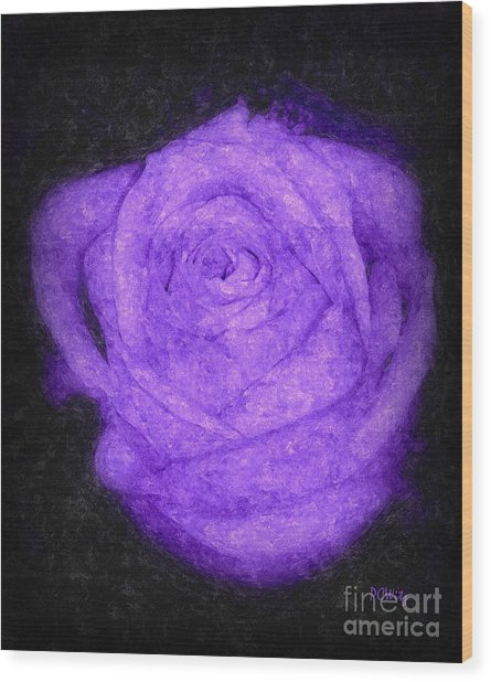 Sweet Lavender Rose Wood Print
