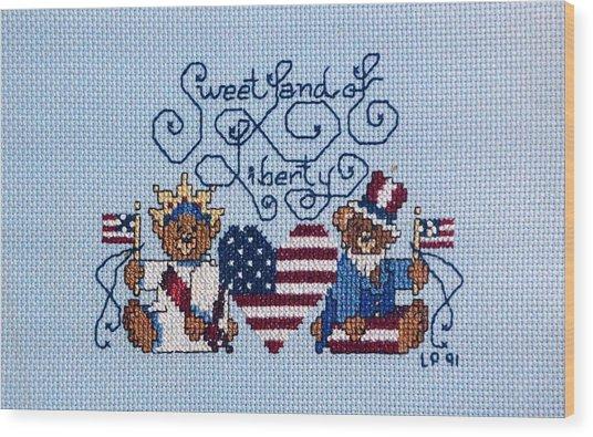 Sweet Liberty Wood Print by Linda Phelps