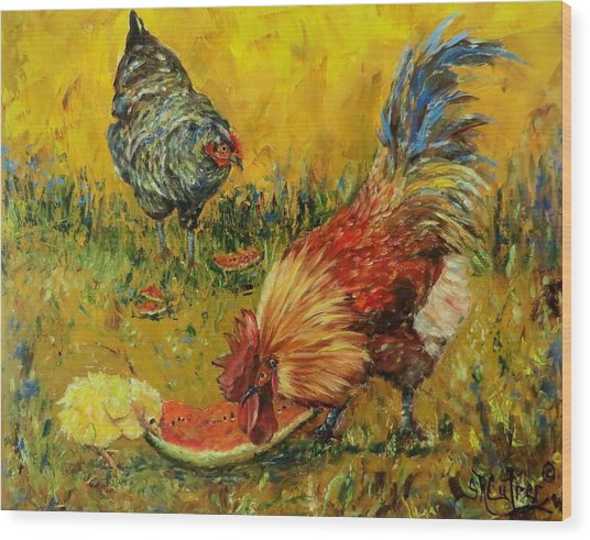 Sweet Pickins, Chickens Wood Print