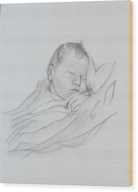 Sweet Sleep 2 Wood Print